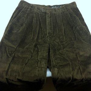🌺 Eddie Bauer Cordury Pants 32x26 Pleated Lg Wale